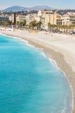 France Nice Mediterranean beach Stock Image