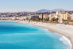 France Nice Mediterranean beach Stock Photo