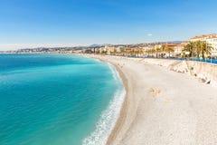 France Nice Mediterranean beach Royalty Free Stock Photo
