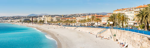 France Nice Mediterranean beach Stock Photos