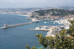 France. Nice. Panorama. And beacon Royalty Free Stock Photography