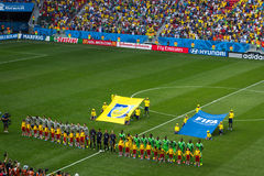 France and Nigeria. Match by FIFA World Cup Brazil 2014 Royalty Free Stock Image