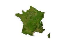France no fundo branco Imagem de Stock Royalty Free
