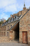 France. Normandy. Abbey of Mont Saint Michel Stock Photography