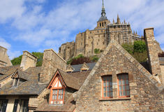 France. Normandy. Abbey of Mont Saint Michel Royalty Free Stock Image