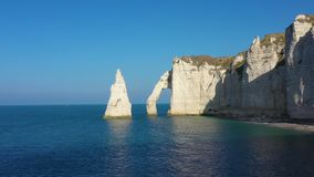 Aerial view of Etretat in Normandy