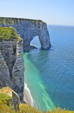 France, Normandy, coast in Etretat Stock Photos