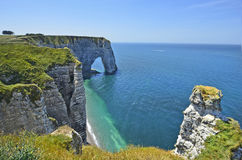 France, Normandy, coast in Etretat Stock Image