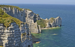 France, Normandy, coast in Etretat Royalty Free Stock Photos