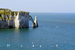 France, Normandy, Etretat stock image