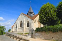 France, Normandy/Giverny:  Church of Claude Monet  Royalty Free Stock Image
