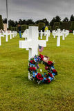 France, Normandy, June 6, 2011 - Graves of soldiers who died during the military operation in 1944 in Normandy. Royalty Free Stock Images