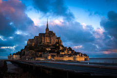 France. Normandy. Mont Saint-Michel. Royalty Free Stock Images