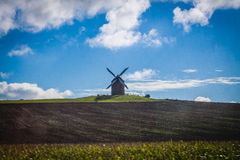 France. Normandy. Mont Saint-Michel. Mill Royalty Free Stock Photography