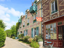 France, Normandy: Old Hotel and Restaurant in Giverny royalty free stock image