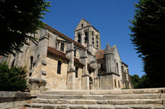 France, the Notre Dame church of Auvers sur Oise Royalty Free Stock Photos