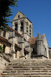 France, the Notre Dame church of Auvers sur Oise Royalty Free Stock Photo
