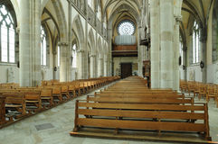France, Notre Dame des Champs church in Avranches. Normandie, Notre Dame des Champs church in Avranches Royalty Free Stock Photography
