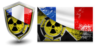 France nuclear shield  illustrations Royalty Free Stock Photography