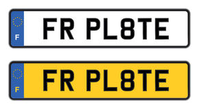 France number plate Stock Photography