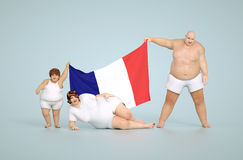France obesity concept Stock Photos