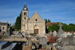 France, the old church of Villers en Arthies Stock Image