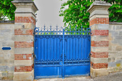 France, an old gate in Les Mureaux Royalty Free Stock Image