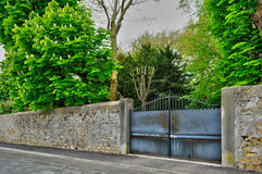 France, an old gate in Les Mureaux Stock Photo