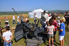 France,  old military equipment in air show of Verneuil sur Sein Stock Images