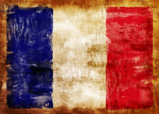 FRANCE old painted flag Royalty Free Stock Images