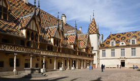France, old and picturesque city of Beaune Royalty Free Stock Images
