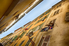 FRANCE. Old town architecture of Nice on French Riviera Stock Photo