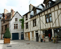 France, old town. France, renovated old house, restaurant Royalty Free Stock Photos