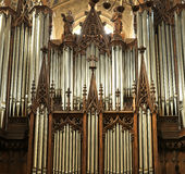 France - Organ of Chambery Cathedral Stock Images