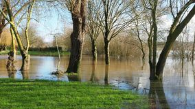 France, the overflowing Loire river close to Nantes. During winter season stock video footage