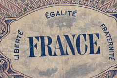 France Paper Money Royalty Free Stock Photography