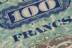 France Paper Money Stock Photo