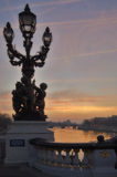 France - Paris - Alexandre III bridge Stock Image