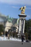 France - Paris - Alexandre III bridge Stock Images