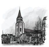 France, Paris, Ancient church Saint Germain des Pres Stock Photography