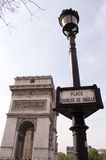 France Paris Arc de Triomphe Stock Image