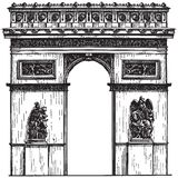 France. Paris. the arc de Triomphe on a white Royalty Free Stock Image