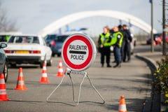 France Paris attacks - border surveillance with Germany Stock Photos