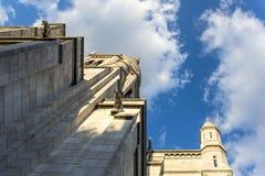 France, Paris, August 9, 2017: View of the Basilique du Sacre Coeur, facade elements stock photography