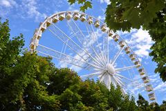 France Paris Big dipper wheel Stock Photos