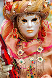France. Paris: Celebration of the grape harvest. Of Montmartre. Beautiful and colorful venetian mask stock photos