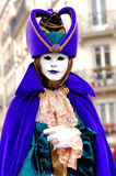 France. Paris: Celebration of the grape harvest. Of Montmartre. Beautiful and colorful venetian mask stock image