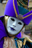 France. Paris: Celebration of the grape harvest. Of Montmartre. Beautiful and colorful venetian mask stock photo