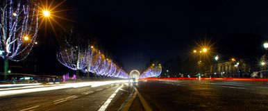 France, Paris: Champs Elysees royalty free stock photo