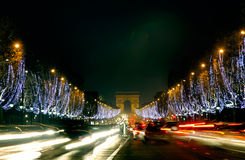 France, Paris: Champs Elysees stock photography